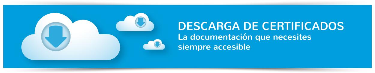 Descarga de certificados