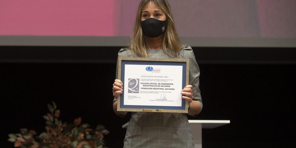 La Fundación y el COIINA reciben el sello a la excelencia 400+